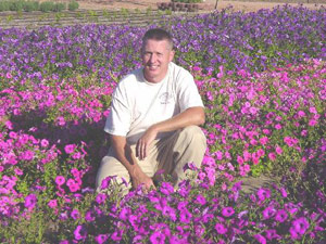 Greg Grant with Laura Bush petunia selections