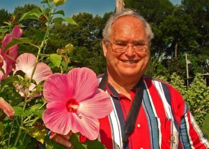 Dr. Jerry Parsons with Hibiscus